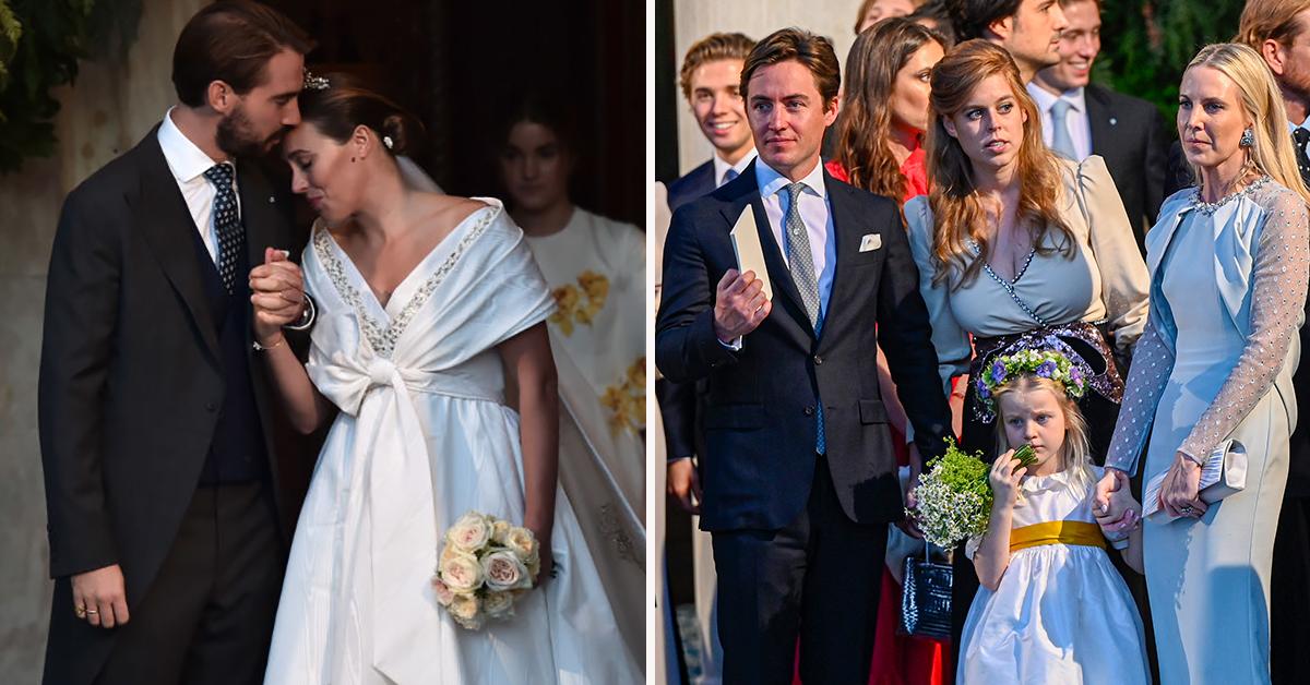 Beatrice and Eugenie attend lavish Greek royal wedding of Princess Diana's godson