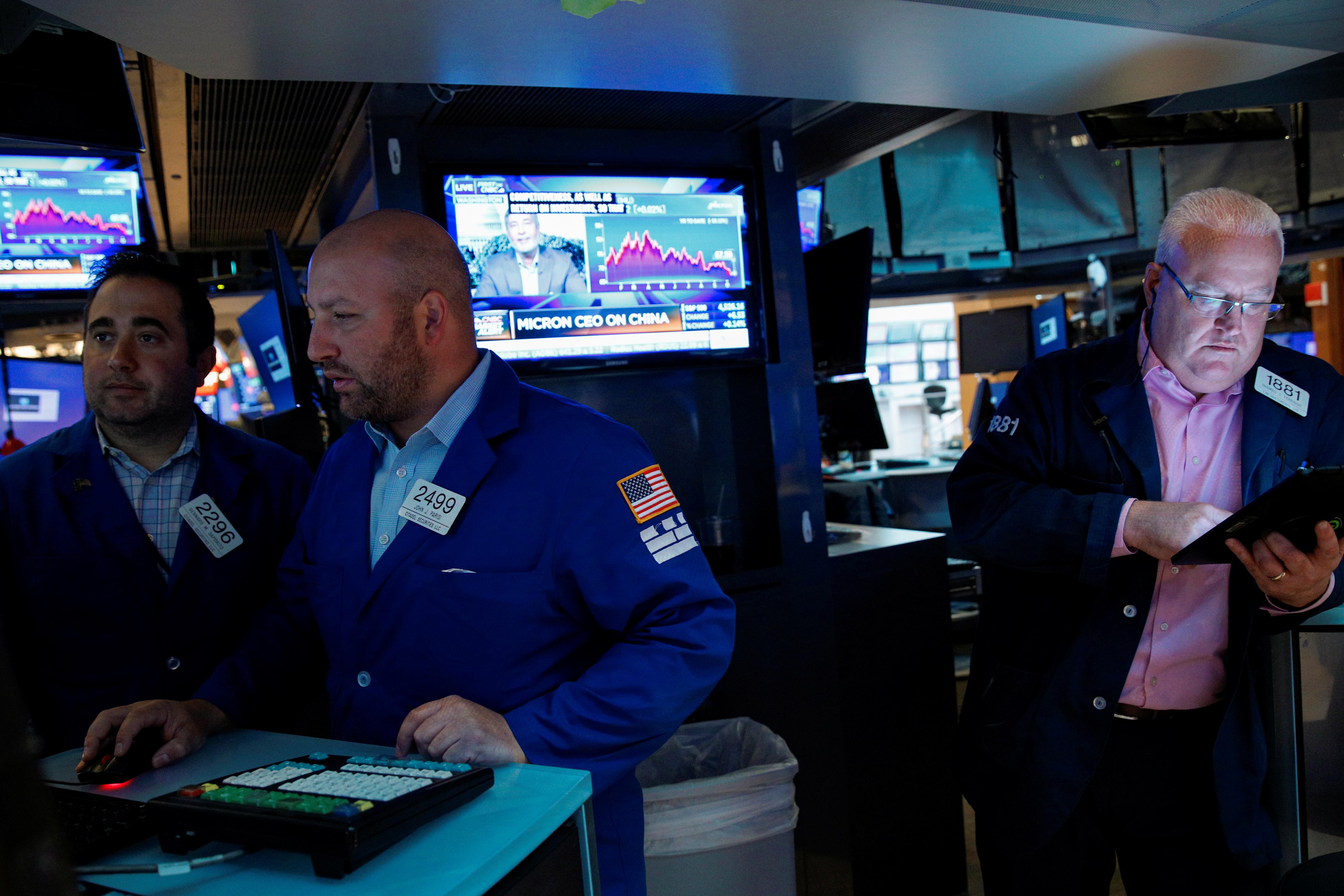 Stock market news live updates: Stocks edge lower ahead of technology earnings