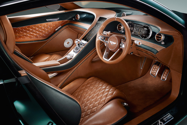 Brown Sports Car Bentley Sports Car Interior