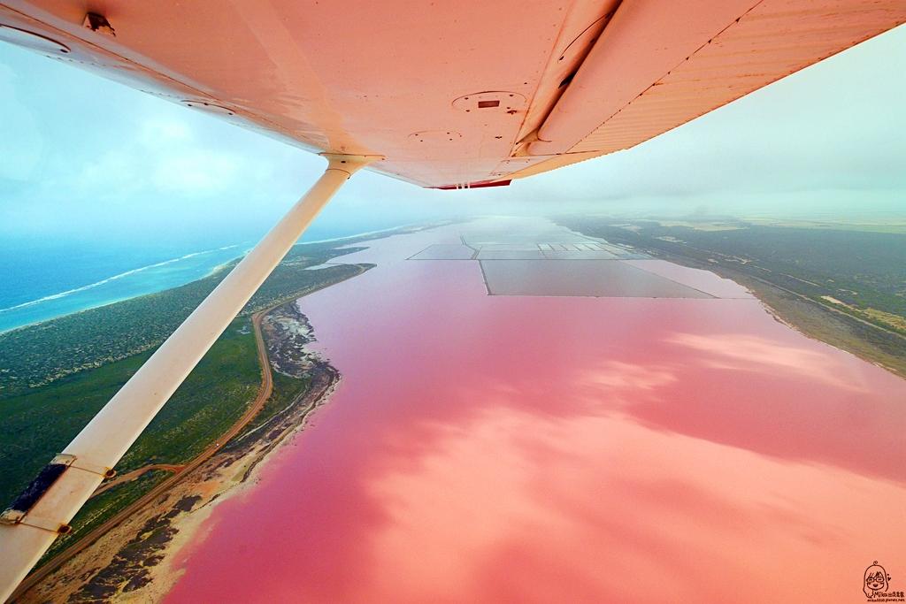 『澳洲。西澳』 Hutt Lagoon 赫特潟湖 / 北粉湖|世界上最夢幻的粉紅湖 西澳自然絕景之一 浪漫到讓人想戀愛的草莓牛奶色。|雄獅 玩轉西澳七日 粉紅湖 沙漠小探險之旅