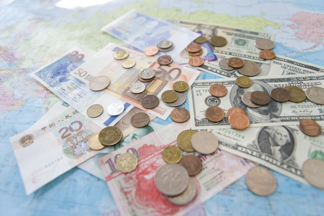 money from different country