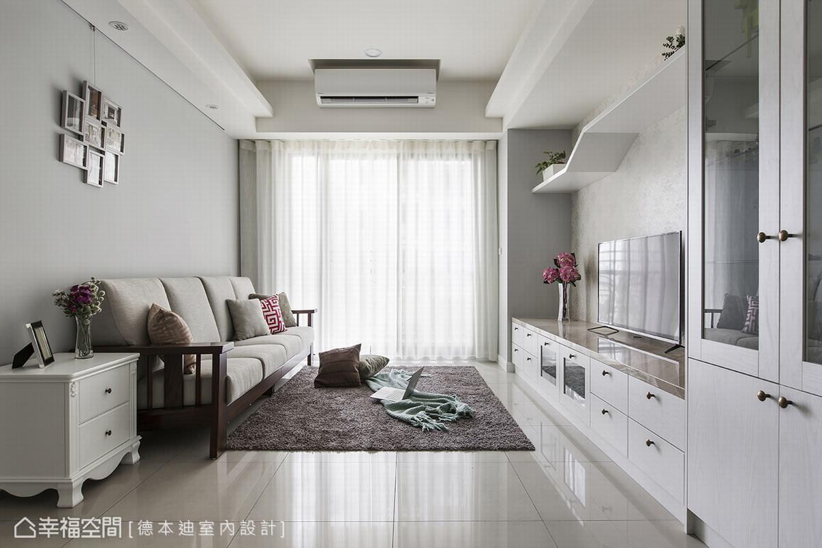 運用巧思修飾梁柱壓迫 白色空間的清新舒適 Yahoo奇摩房地產