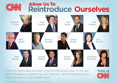 "CNN Takes Out NYT ""Reintroduce Ourselves"" Ad; Look Who's Left Out"