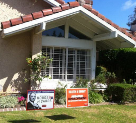 EMMYS: Netflix Uses Lawn Signs In 'House Of Cards', 'Arrested Development' Campaign