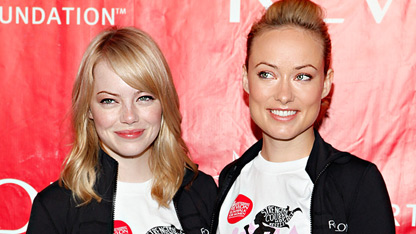 Emma Stone & Olivia Wilde's 'Natural' Look