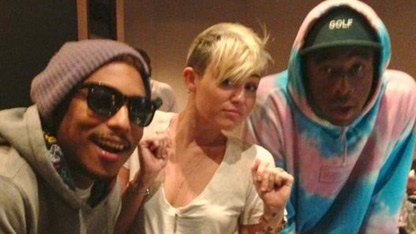 Miley's Surprising Studio Snap