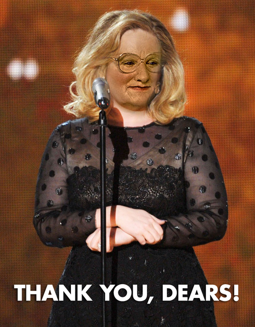 Ever Wonder What Adele Would Look Like as Mrs. Doubtfire?