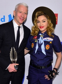 Anderson Cooper Honored by GLAAD, Good Scout Madonna