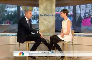 Matt Lauer Questions Anne Hathaway About Wardrobe Malfunction: 'We've Seen a Lot of You Lately' (Video)