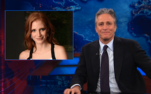 'Daily Show' Jon Stewart Says Imaginary Girlfriend, Jessica Chastain, Has Died