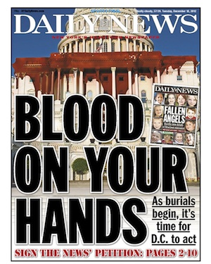 NY Daily News, NY Post Stump for Gun Control on Their Front Pages