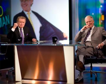 Regis Philbin Interviewing David Letterman When He Guest Hosts 'Piers Morgan Tonight'