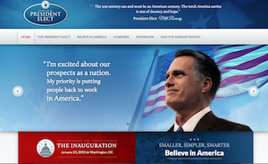 What President-Elect Romney's Site Would Have Looked Like