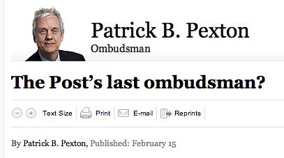 Washington Post May Cut Ombudsman; New York Times Shills for Lee Radziwill