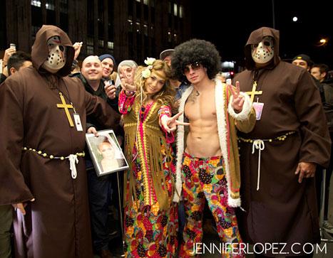 Jennifer Lopez, Shirtless Casper Smart Are Hippies for Halloween