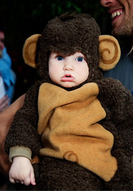 Aww! Jessica Simpson Dresses Baby Maxwell as a Monkey