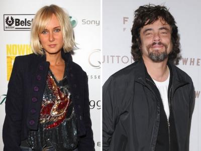 Kimberly Stewart and Benicio del Toro -- Getty Premium