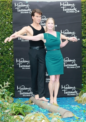 Lisa Niemi Swayze attends the unveiling of Patrick Swayze's wax figure at Madame Tussauds Hollywood on October 18, 2011 in Hollywood -- Getty Images