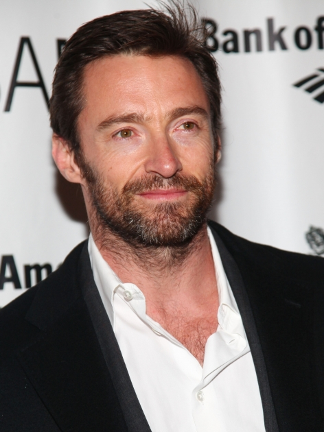 Hugh Jackman sports some scruff at the opening night of 'Richard III' at the BAM Peter Jay Sharp Building in New York City on January 18, 2012 -- Getty Images