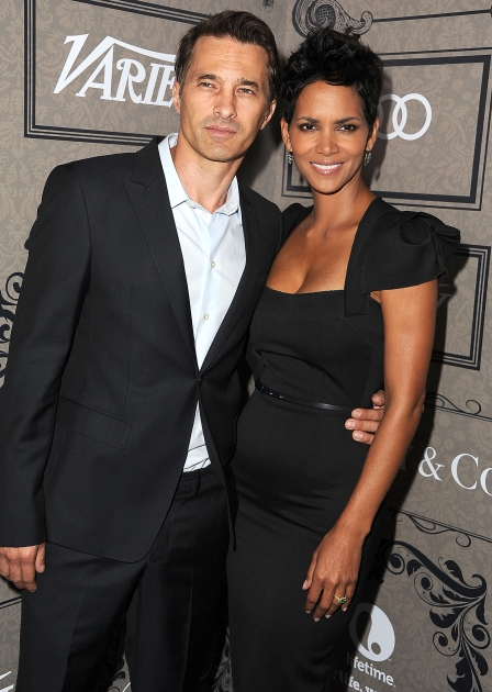 Olivier Martinez and Halle Berry arrives at the Variety's Power Of Women Presented By Lifetime at the Beverly Wilshire Four Seasons Hotel, Beverly Hills, on October 5, 2012 -- Getty Images