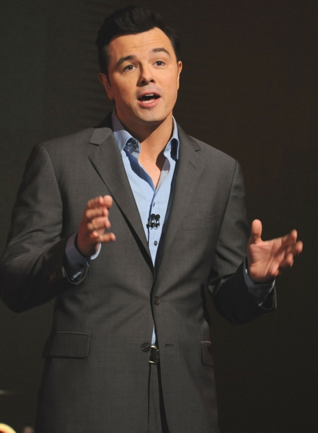 Seth MacFarlane seen on stage during the 85th Academy Awards Nominations Announcement held at AMPAS Samuel Goldwyn Theater on January 10, 2013 in Beverly Hills, Calif. -- Getty Premium