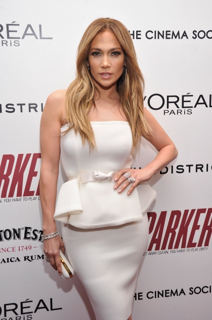 lJennifer Lopez attends a screening of 'Parker' hosted by FilmDistrict, The Cinema Society, L'Oreal Paris and Appleton Estate at MOMA on January 23, 2013 in New York City -- Getty Images