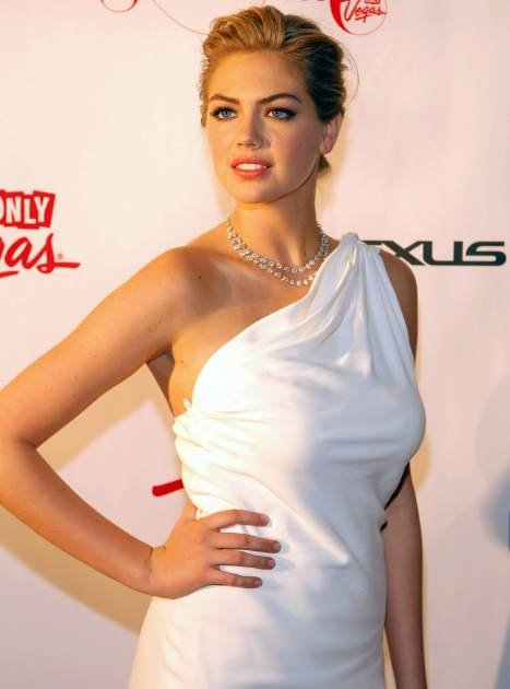 Kate Upton arrives at the 'Club SI Swimsuit' hosted by Sports Illustrated and The LVCVA at 1 OAK Las Vegas at The Mirage Hotel & Casino on February 14, 2013 in Las Vegas -- Getty Premium