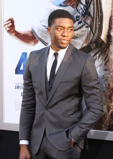 Chadwick Boseman arrives at the Los Angeles premiere of '42' held at TCL Chinese Theatre on April 9, 2013 in Hollywood, Calif. -- Getty Premium