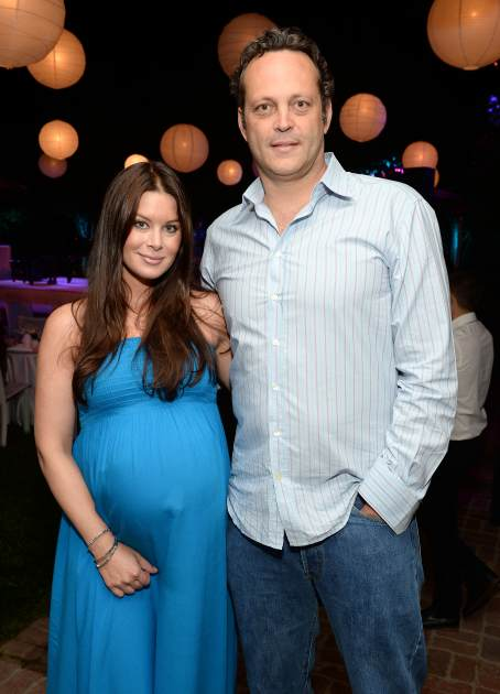 Vince Vaughn and wife Kyla, August 2013 -- Getty Images