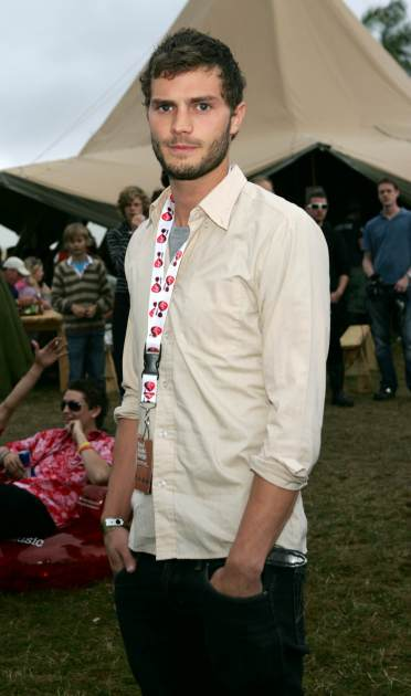 Jamie Dornan in the Virgin Mobile Louder Lounge at the V Festival on August 19, 2007 in Chelmsford, England -- Getty Images