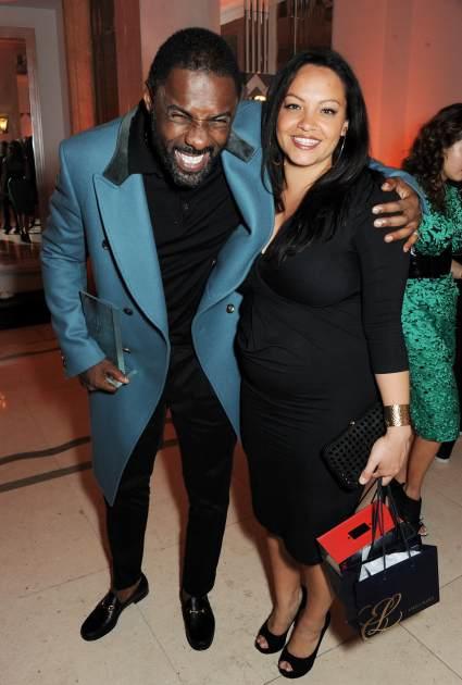 Idris Elba and Naiyama Garth -- Getty Images
