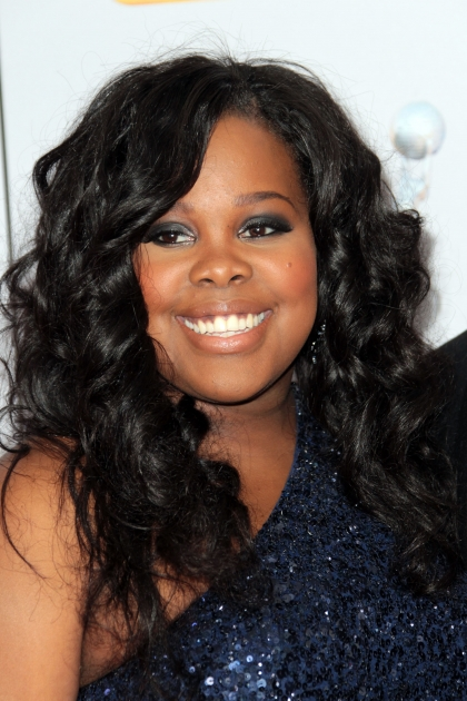 Amber Riley arrives at the 43rd NAACP Image Awards held at The Shrine Auditorium, Los Angeles, on February 17, 2012 -- Getty Images