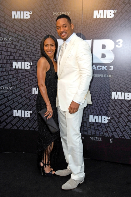 Jada Pinkett Smith and Will Smith attend the 'Men In Black 3' European Premiere at Le Grand Rex in Paris on May 11, 2012 -- Getty Images