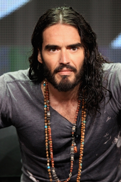 Russell Brand speaks onstage at the 'Brand X with Russell Brand' panel during the FX portion of the 2012 Summer TCA Tour, Beverly Hills, on July 28, 2012 -- Getty Images