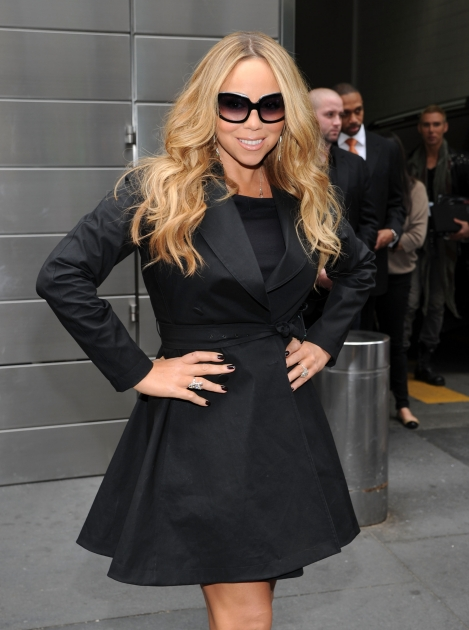Mariah Carey steps out at the 'American Idol' photo call at Lincoln Center in New York City on September 16, 2012 -- Getty Images