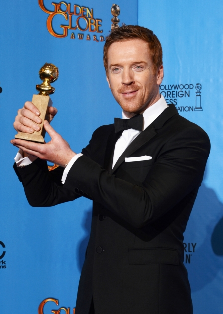 Damian Lewis, winner of Best Actress in a Television Show (Drama) for 'Homeland,' poses in the press room during the 70th Annual Golden Globe Awards held at The Beverly Hilton Hotel in Beverly Hills, Calif., on January 13, 2013 -- Getty Images