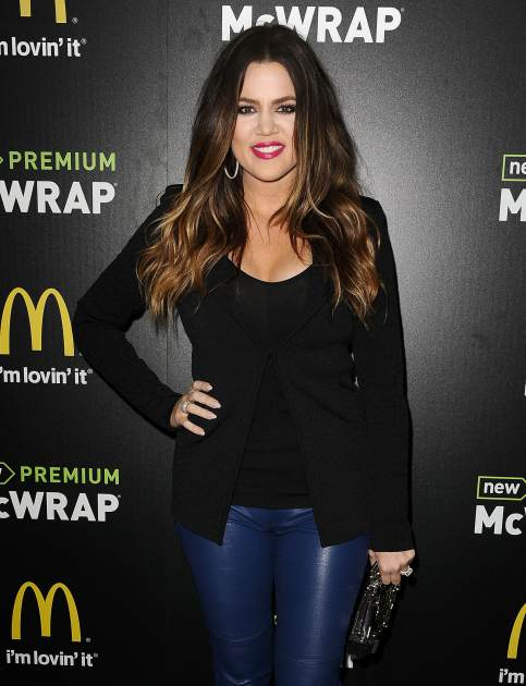 Khloe Kardashian attends the McDonald's Premium McWrap Launch Party held at Paramount Studios on March 28, 2013 in Hollywood, Calif. -- Getty Premium