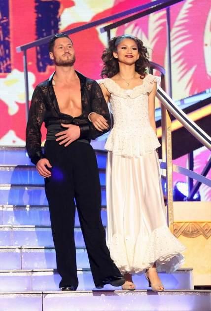 Val Chmerkovskiy and Zendaya take the stage on 'Dancing,' April 29, 2013 -- ABC