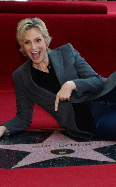 Jane Lynch is honored with the 2,505th star on the Hollywood Walk of Fame in the category of television on September 4, 2013 in Hollywood, Calif. -- Getty Images