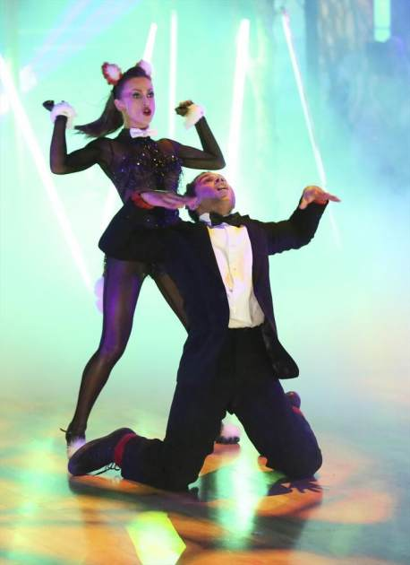 Karina Smirnoff and Corbin Bleu perform on 'Dancing,' Oct. 2013 -- ABC