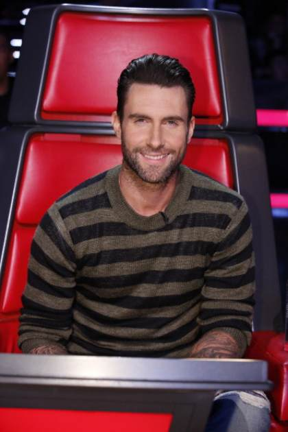 Adam Levine seen on NBC's 'The Voice' -- NBC