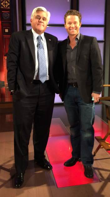 Jay Leno chats with Access Hollywood's Billy Bush on January 29, 2014 -- Access Hollywood