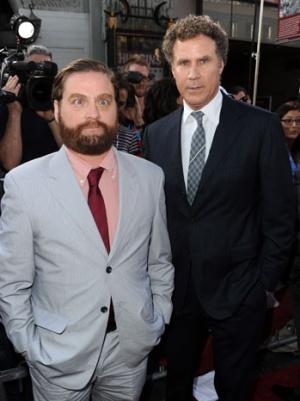 Will Ferrell and Zach Galifianakis Attend Patriotic 'Campaign' Premiere