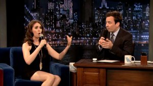 Alison Brie Drops Some Freestyle Rap Rhymes About 'Community' on 'Fallon' (Video)