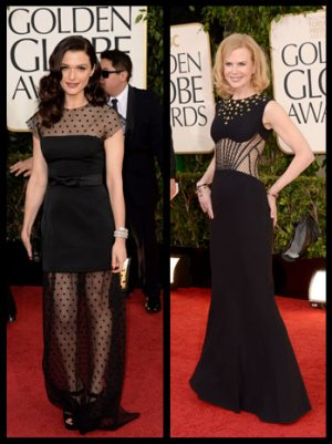 Golden Globes Fashion: Black Is No Longer Simple -- Now It's Very Detailed