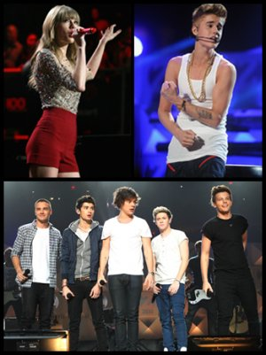Taylor Swift Previews 'Red' Tour, One Direction Dominates, Justin Bieber Goes Shirtless at Z100 Jingle Ball