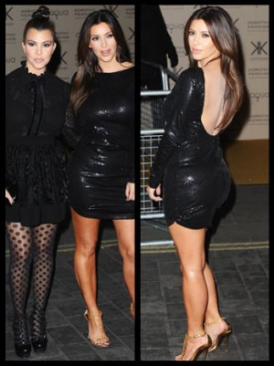 Kim and Kourtney Kardashian Launch Sexy Fashion Line in London, Praise Kate Middleton's Wardrobe Recycling