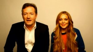 Lindsay Lohan Chats With Piers Morgan About Drugs, Rehab
