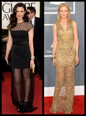 Rachel Weisz, Nicole Kidman Vie for Best-Dressed in Sheer Bi-Level Gowns (Poll)