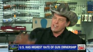 Piers Morgan, Ted Nugent Have Heated Argument Over Gun Control (Video)